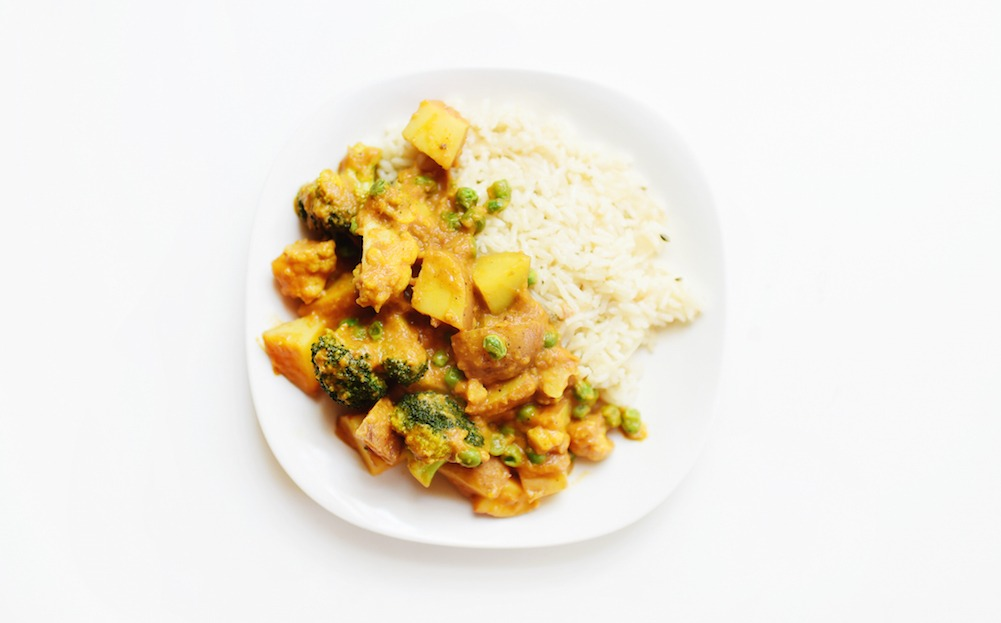This Vegan Veggie Curry Dish Is Plant Based Goals
