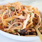 cashew cheesy spaghetti