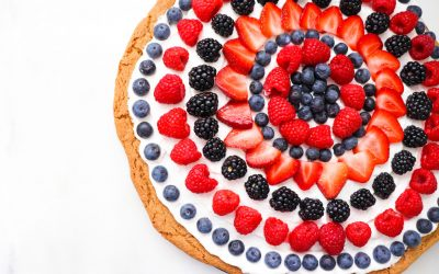 Patriotic Dessert Ideas: 4th of July Fruit Cookie Pizza Recipe