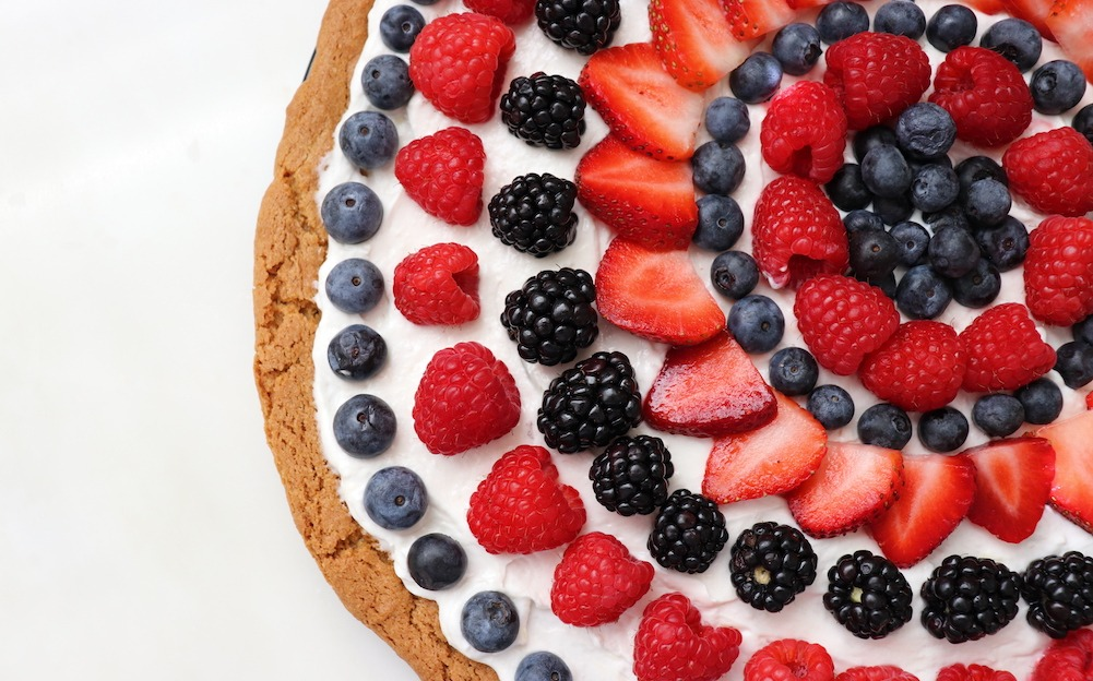 4th of July Fruit Cookie Pizza Recipe