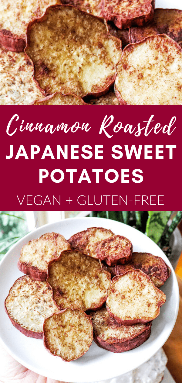 cinnamon roasted japanese sweet potatoes