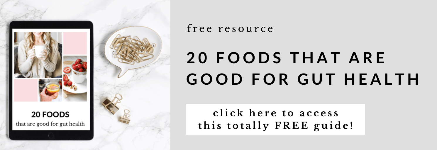 free health gut ebook offered by top US wellness blogger, Elizabeth Finch Wellness
