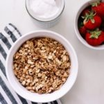 Healthy Homemade Cacao and Almond Butter Granola Recipe featured by top US wellness blogger, Elizabeth Finch Wellness