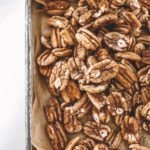 Sweet & Spicy Roasted Pecans Recipe featured by top US wellness blogger, Elizabeth Finch Wellness.