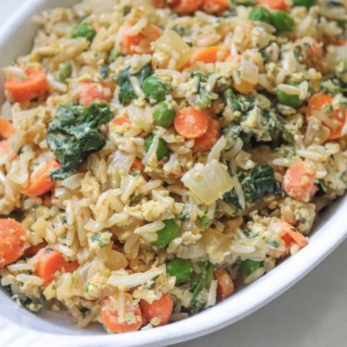 Homemade Fried Rice Recipe featured by top US wellness blogger, Elizabeth Finch Wellness