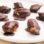 healthy dark chocolate caramels