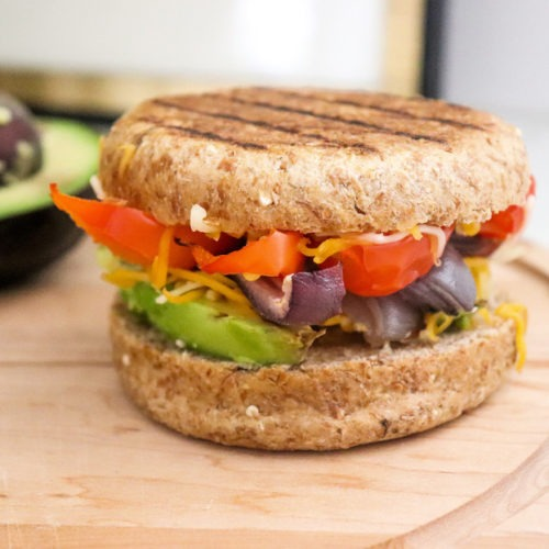 tex-mex veggie grilled cheese