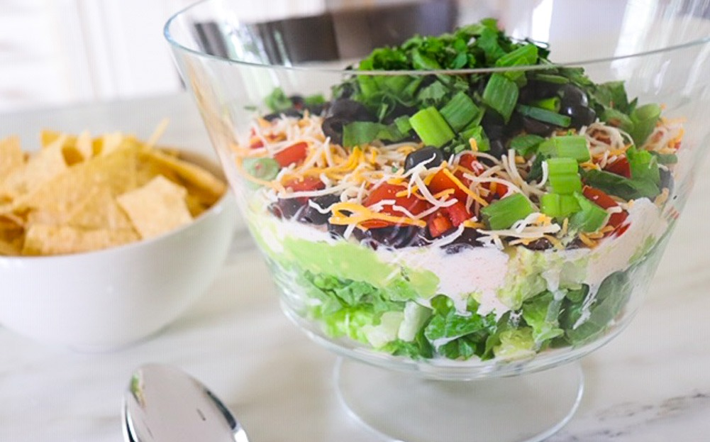 Lightened Classic Recipe: Healthy 7 Layer Dip