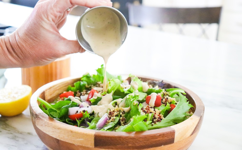 Easy Tahini Caesar Dressing Perfect For Your Summer Salads