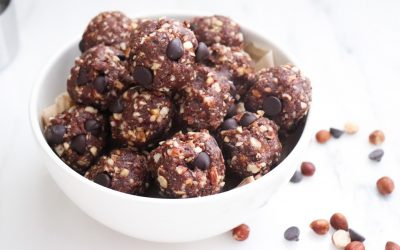 Healthy Snack Ideas: Fudge Brownie Protein Bites Recipe